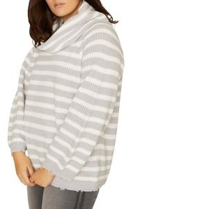 Sanctuary Jagger Cowl Neck Sweater Striped